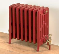 red 6 column cast iron radiator Love!
