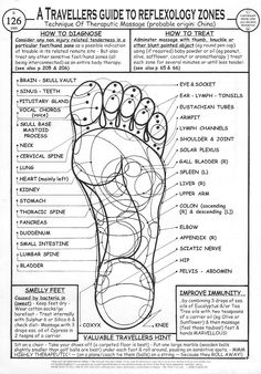 Foot Reflexology Quick Chart
