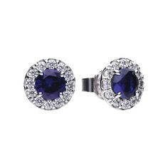 Finish the look with these Cubic Zirconia & Sapphire Cluster Earrings for €110 from our DiamonFire collection at Rocks.ie #dublinjewellers #irishjewellers #graftonstreet #stillorgan #ladiesfashion #summerfashion #fashionaccessory #necklace #giftidea #forher