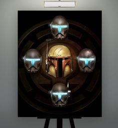 "Star Wars Inspired  ""Buir of Omega"" Kal Skirata Omega Squad 11X14 Fine Art Print Poster Herofied Helmet Study Portrait Republic Commandos"