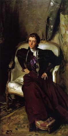 Portrait of Mrs Alice Brisbane Thursby, 1898 by John Singer Sargent. Realism. portrait. Private Collection