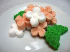3 Dozen Flower and Leaf Sugar Cubes by WishingwellArt on Etsy
