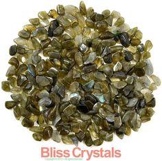 250 XS LABRADORITE Mini Tumbled Stones 1/4 lb by BlissCrystals, $6.95