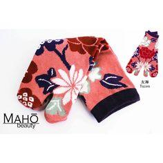 Lovely Japanese style Kawaii Tabi socks: Adorable and functional: flowers