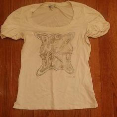 Shirt White and grey bebe Tops