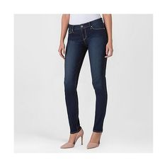Denizen from Levi's Women's Modern Skinny Jeans ($28) ❤ liked on Polyvore featuring jeans, orbit, denim skinny jeans, slim fit skinny jeans, denizen jeans, super skinny jeans and mid-rise jeans
