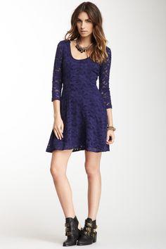 Free People 3/4 Length Sleeve Lace Dress. Con zapatos o sandalias con tacón aguja o cuña