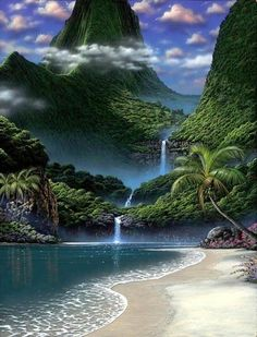 Lovely Waterfall Beach Waterfalls Love