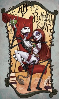 *JACK SKELLINGTON & SALLY ~ The Nightmare Before, Christmas, 1993....I Am The Pumpkin King Hahaha by ALXNDR-Art