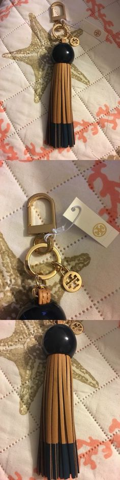 Key Chains Rings and Finders 45237: Tory Burch Tassel Fob Dark Blue Top Leather Bottom -> BUY IT NOW ONLY: $45 on eBay!