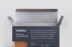 Packaging by Believe In for LittlePod's traditionally made vanilla shortbread