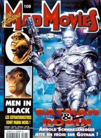 Mad Movies n°108, juillet 1997. LES FILMS : Men in Black. Scream. Batman & Robin. Rétro Godzilla. Interview : Wes Craven.