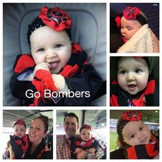 Have a look at Ian and Lorraine's gorgeous granddaughter Lilly! A true Bomber from birth. #DonTheSash