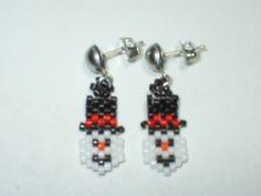 Petite Snowman Earrings