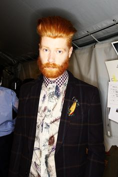 great looking mustache + hairstyle - Beard Board Hot Ginger Men, Ginger Beard, Hair And Beard Styles, Hair Styles, Redhead Men, Red Beard, Beard Lover, Beard Care, Facial Hair