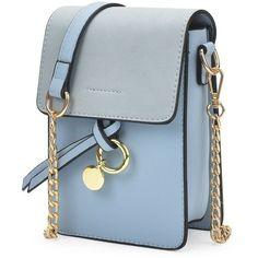 Metal Detail Mini Crossbody Bag Blue (65 PLN) ❤ liked on Polyvore featuring bags, handbags, shoulder bags, mini crossbody purse, mini purse, miniature purse, cross-body handbag and blue shoulder handbags