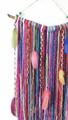 Bohemian Decor Wall Hanging Wall Tapestry Yarn Mobile Boho