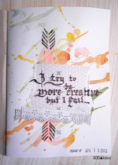 made by Marysza ► SODAlicious art journal challenge No25
