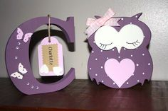 Wooden Owl & Letter Gift Set - The Supermums Craft Fair