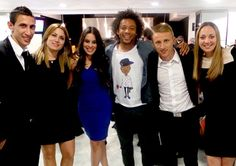 Angel and Jorgelina Di Maria, Clarice Alves and Marcelo, Luka and Vanja Modric.