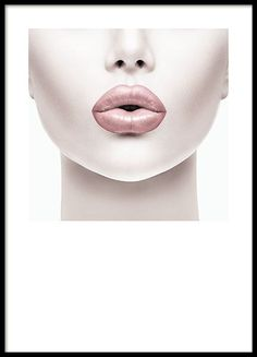 Poster with a photograph of a woman with pink lips. Stylish poster with fashion . - Poster with a photograph of a woman with pink lips. Stylish poster with a fashion motif. This poster - Poster Shop, Mode Poster, Poster Prints, Poster Poster, Art Posters, Illustration Mode, Illustrations, Arte Marilyn Monroe, Pink Lips