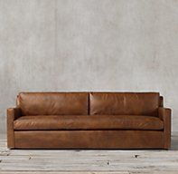 RH's Petite Belgian Track Arm Leather Sofa:Our European-inspired take on the classic sofa redefines it for a new age. Low to the ground, deep in profile, and sleekly streamlined for sophisticated appeal, it's a chic, ultra-comfortable twist on tradition. Our petite size collections are perfectly proportioned for smaller spaces.