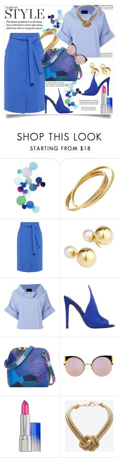"""Straight Into Style"" by helenaymangual ❤ liked on Polyvore featuring Cartier, Mother of Pearl, Yoko London, Erika Cavallini Semi-Couture, Kendall + Kylie, Fendi, Estée Lauder and BCBGMAXAZRIA"