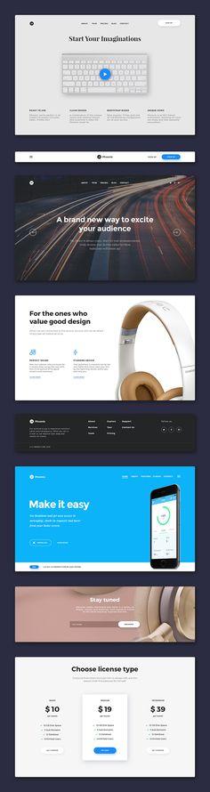 Free Flat Graphics for Designers - 34     #webtemplate #psdtemplate #landingpage #websitedesign #layout #ui #flatdesign