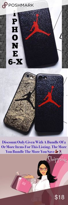 Jordan Jumpman iPhone Case 6-X ➡️Discount Only With Bundle Of 2 Or More Items⬅️ *RED JUMPMAN* Visit Closet To See The Black Jumpman Case & Many More  Show off your iPhone while protecting it from bumps and scratches.  * High Quality Soft Shell Case * Detailed Jumpman Jordan Design * Bump/ Anti Shock  * Fitted Design * New In Package  * Same Or Next Day Shipping ⭐️Post Office Drop Off Times Are 1:00pm & 5:00pm Eastern Standard Time. I will do my best to ship same day. I will message you with…