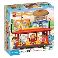 The Official PBS KIDS Shop | Daniel Tiger's 24pc Puzzle - TROLLEY $5