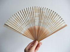 Folding fan Japanese vintage bamboo unisex by WhatsForPudding