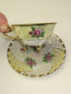 Wonderful Cup and Saucer  Lustreware  from ♥ by Momsvintagetreasures Check out the saucer.
