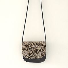 Leopard handmade leather saddlebags www.sannerose.com