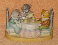 SCHMIDT KITTY CUCUMBER TEA FOR TWO  MUSIC BOX  MNB