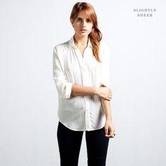 #reallycute white silk blouse 08455455
