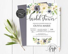 Blue Floral Bridal S