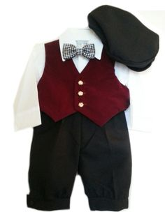 5863fd379ee Close-Out Burgundy Vest Pants 5 - Piece Set at DapperLads