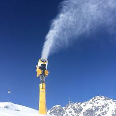 Sölden Austria , snow gun