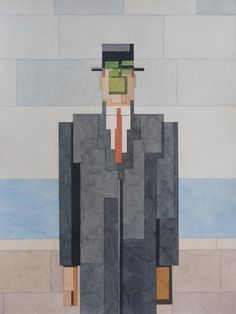 Adam Lister's pixelated watercolors of iconic works of art.