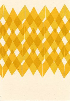 Yellow Pattern Postcard by QuillAndArrowPress on Etsy