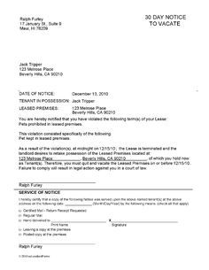 Printable sample 30 day notice to vacate letter form real estate 30 day notice to landlord template printable sample notice to vacate template form thecheapjerseys Choice Image