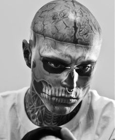 "Rick Genest aka ""Zombie Boy"" by Rex Features/East News"