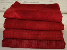 RED DELICIOUS hand-dyed by Wool-N-Wares @ http://stores.shop.ebay.com/wool-n-wares