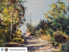 Serrano Greek Pathway by @melodypastels #softpastel #pasteldrawing #bestpastelart by bestpastelart
