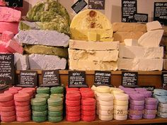 Lush cosmetics. The BEST place to get any organic vegetarian handmade cosmetics. (Shampoos, bathbombs, scrubs, lotions, ect.)