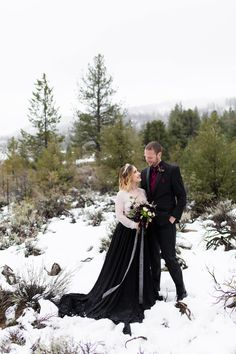 Moody winter wedding inspiration in the snow at Frazier Park, Ca Snow Wedding, Purple Wedding, Wedding Flowers, Most Beautiful Flowers, Beautiful Bride, Wedding Venue Inspiration, Wedding Ideas, Purple Themes, Frazier Park