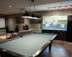 Brilliant Traditional Home Blend with Modern Touch: Amazing Open Plan Interior Design Facing The Fox Billiard Table