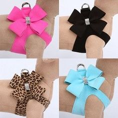 Nouveau Bow Crystal Step-In Dog Harness