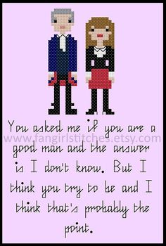 Doctor Who inspired Peter Capaldi A Good Man by FangirlStitches