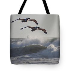 Pelican Pair Tote Bag featuring the photograph Pelican Pair by Tom Janca
